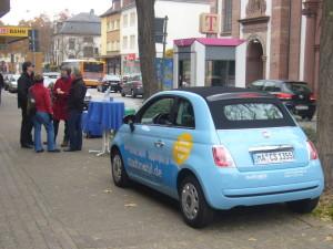 Infostand zu CarSharing in Neckarau